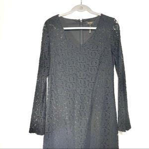 Laundry by Shelli Segal Black Lace Dress | Sz 8